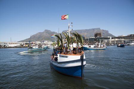 fishing fleet: Cape Town harbour South Africa  The annual Blessing of the Fishing Fleet celebrations Editorial