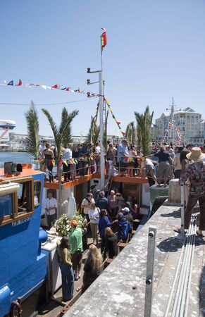 fleet: Cape Town harbour South Africa  The annual Blessing of the Fishing Fleet celebrations Editorial
