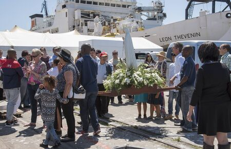blessing: Cape Town harbour South Africa  The annual Blessing of the Fishing Fleet celebrations Editorial