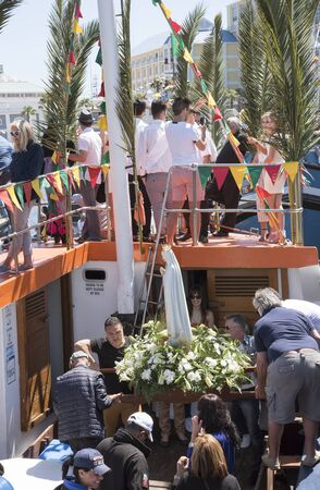 portugese: Cape Town harbour South Africa  The annual Blessing of the Fishing Fleet celebrations Editorial