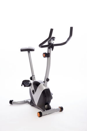 An exercise bike ready for use