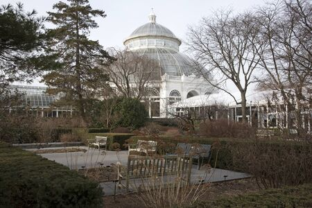 botanical garden: The Haupt Conservatory at the New York Botanical Garden in the Bronx