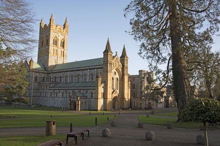 De Abdij en het Klooster van Buckfast in Buckfastleigh in Zuid-Devon Engeland het UK Stockfoto