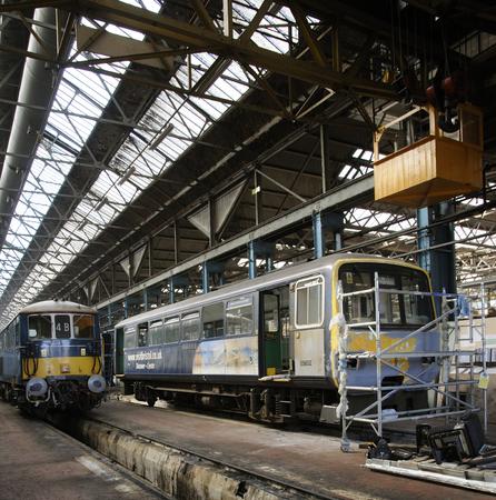 overhaul: Arlington Fleet services maintain railway rolling stock from their base in Eastleigh Hampshire UK Wagon overhaul Editorial