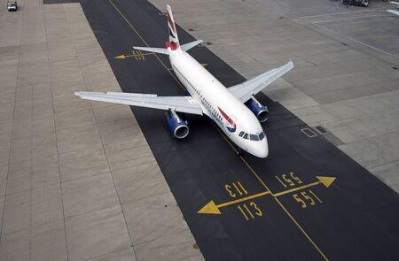 ba: LONDON GATWICK AIRPORT A BA JET USING NEW TARMAC TAXIWAY