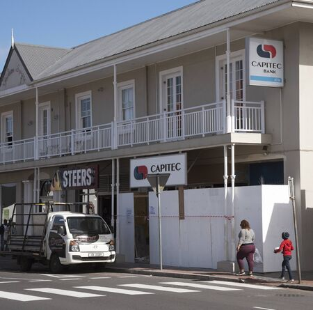 construction companies: Capitec Bank is a commercial bank in the Republic of South Africa. The premises here are under construction in Hermanus Western Cape