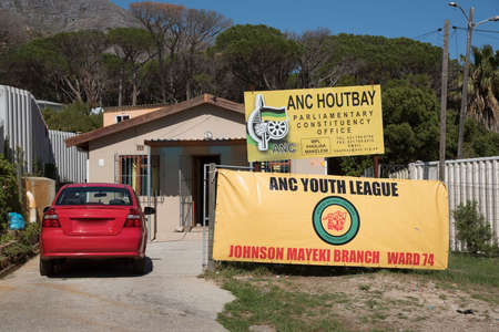 political party: ANC HOUTBAY WESTERN CAPE SOUTH AFRICA - APRIL 2016 - The ANC political party with the ANC Youth League office at Houtbay in the Western Cape South Africa