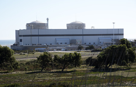 nuclear power station: THE KOEBERG NUCLEAR POWER STATION NORTH OF CAPE TOWN SOUTH AFRICA -APRIL 2016- Koeberg the only nuclear power station in Africa is at Melkbosstrand north of Cape Town. Editorial
