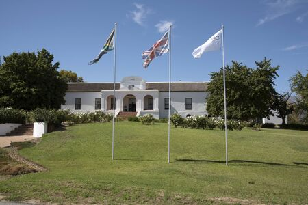southern africa: TULBACH WESTERN CAPE SOUTH AFRICA - APRIL 2016 - The Drosty House in the historic little town of Tulbach Southern Africa