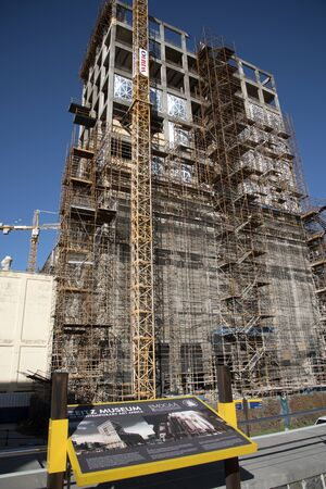 refurbishment: CAPE TOWN SOUTH AFRICA - APRIL 2016 - Redevelopment of a former grain store on the waterfront in Cape Town to become the Zeita Museum of Contemporary Art Editorial