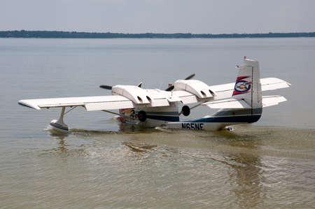 weir: A STOL UC1 flying boat on Lake Weir Florida USA