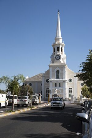 reform: WELLINGTON WESTERN CAPE SOUTH AFRICA - APRIL 2016 - The Dutch reform church in the centre of Wellington South Africa Editorial