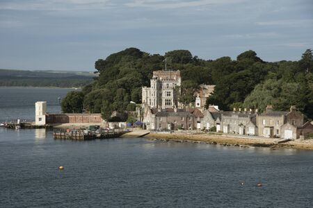 seafronts: Brownsea Castle also known as Branksea Castle on Brownsea Island in Poole Harbour Dorset England UK