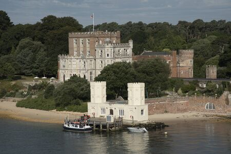 waterfront property: Brownsea Castle also known as Branksea Castle on Brownsea Island in Poole Harbour Dorset England UK