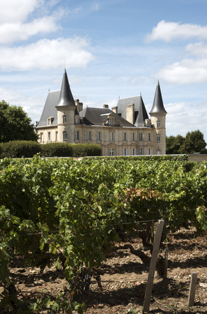 Pauillac Bordeaux France - August 2016 - The historic Chateau Pichon Longueville Baron situated along the wine route of Pauillac in the Bordeaux region of France Editorial