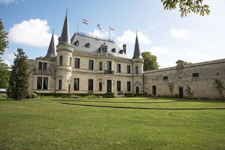 bordeaux region: Margaux Bordeaux France - August 2016 - The historic Chateau Palmer situated along the wine route of Margaux in the Bordeaux region of France