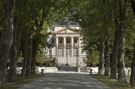 Margaux Bordeaux France - August 2016 - The historic Chateau Margaux situated along the wine route of the Medoc in the Bordeaux region of France