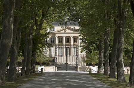 Margaux Bordeaux Frankrijk - augustus 2016 - Het historische Chateau Margaux gelegen langs de wijnroute van de Medoc in de regio Bordeaux in Frankrijk Redactioneel