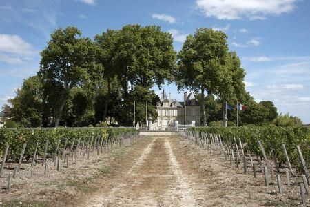 bordeaux region: Pauillac Bordeaux France - August 2016 - The historic Chateau Pichon Longueville Comtesse De Lalande situated along the wine route of Pauillac in the Bordeaux region of France