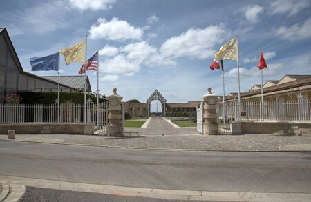 bordeaux region: Saint Julien Bordeaux France - August 2016 - The Chateau Leoville Poyferre situated along the wine route of Saint Julien in the Bordeaux region of France