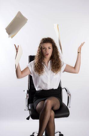 fedup: Secretary throwing paper files in the air