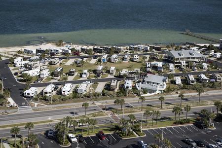 pensacola beach: Pensacola Beach Florida USA - October 2016 - Overview of a RV seaside park Editorial