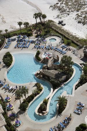 pensacola beach: Pensacola Beach Florida USA - October 2016 - Overview of an outdoor swimming pool