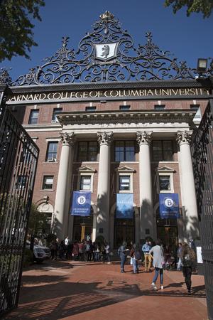 Columbia University New York USA - October 2016 - Barnard College of Columbia University on Broadway NYC