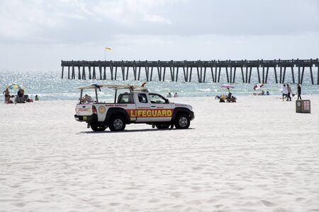 Penscola Beach Florida USA - October 2016 - Lifeguard beach patrol