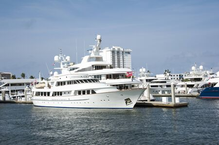 Fort Lauderdale Florida USA - 2011 - Luxury boats in the Port Everglades area Editorial