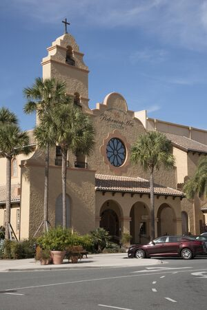 performing arts: Spanish Springs town center Florida USA - October 2016 - The performing arts center on the main square