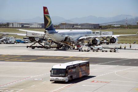 Cape Town International Airport South Africa,A South African Airways A340-600 passenger jet