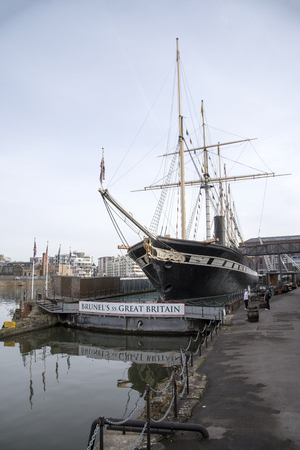 ss: Steam Ship Great Britain docked in Bristol England UK
