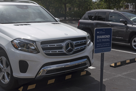 Special parking place for diamond or elite members of a hotel chain. Florida USA