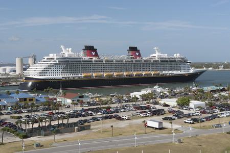 cruising: Cruise ship departing Port Canaveral Florida USA. April 2017