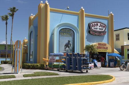 Ron Jons famous surf and beach rental shop on Coacoa Beach Florida USA