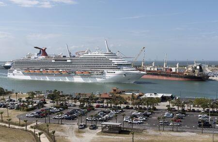 Cruise ship Carnival Magic departing Port Canaveral Florida USA. April 2017 Editorial