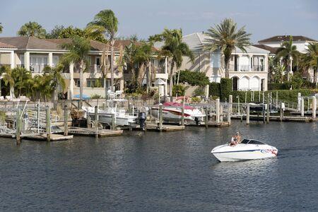 dweling: Waterside housing downtown Tampa Florida USA