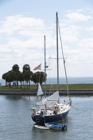 pete: Yacht moored in the north yacht basin of St Petersburg Florida USA