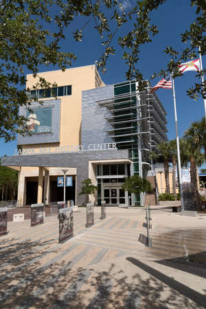 olden day: Exterior view of the Tampa Bay History Center downtown Tampa Florida USA