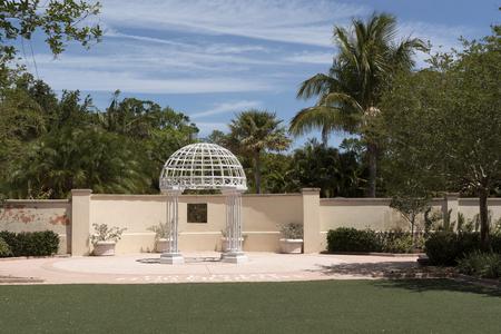 The Wedding Garden at Florida Botanical Gardens in Largo Florida USA. April 2017 Editorial