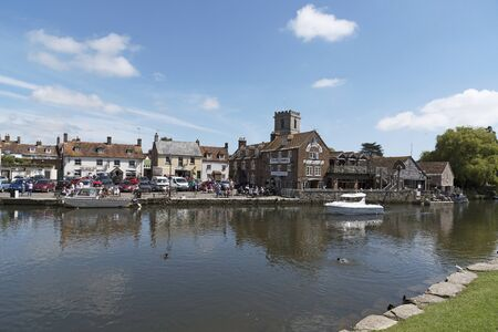 The River Frome at Wareham a small Dorset England town. June 2017