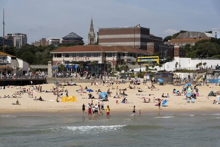 beachfront: The seafront and Pavilion Theatre in Bournemouth a popular seaside resort in southern England UK, June 2017 Editorial