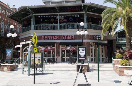 Cafe bar in central Ebor Tampa Florida USA