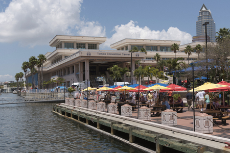 Tampa Bay waterfront area close to the convention center downtown Tampa Fl USA
