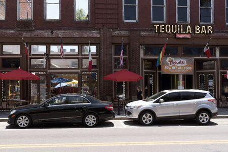 Ybor City center. The historic district of Tampa Florida USA. Circa 2017. A Tequila Bar