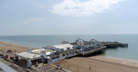 Southsea, Portsmouth, England UK. An overview of the South Parade Pier at Southsea.
