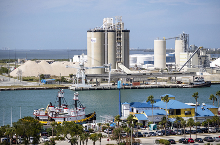 Port Canaveral, Florida, USA, Overview of a cement works