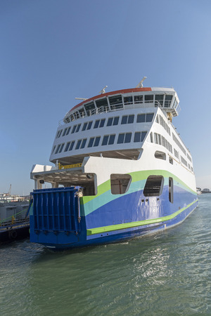 A roll on roll off passenger and vehicle ferry Stock Photo