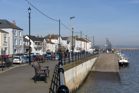 The Quay, Appledore, North Devon, England, UK. February 2019.  View along the quayside of this popular Devonshire town on a sunny winter day.